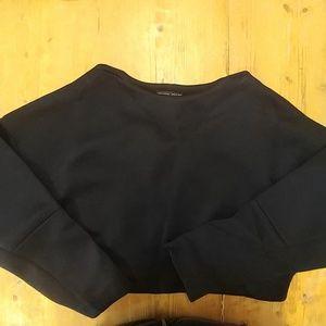 NWT Zara Collection Cropped Sweatshirt Sz M
